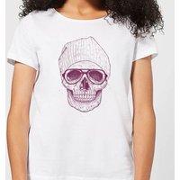 Balazs Solti Skull Women's T-Shirt - White - XL - White