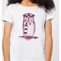 Balazs Solti Winter Owl Women's T-Shirt - White - XXL - White