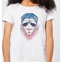 Balazs Solti Bandana Lion Women's T-Shirt - White - XXL - White