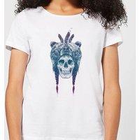 Balazs Solti Bear Head Women's T-Shirt - White - S - White
