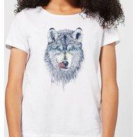 Balazs Solti Wolf Eyes Women's T-Shirt - White - M - White