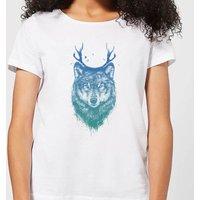 Balazs Solti Wolf Women's T-Shirt - White - XL - White