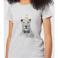 Balazs Solti Party Lion Women's T-Shirt - Grey - 3XL - Grey