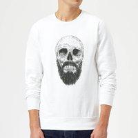 Balazs Solti Bearded Skull Sweatshirt - White - S - White