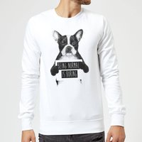 Balazs Solti Being Normal Is Boring Sweatshirt - White - XL - White