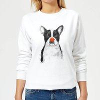 Red Nosed Bulldog Women's Sweatshirt - White - XL - White