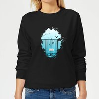 Heavens Closed Women's Sweatshirt - Black - XL - Black