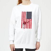 USA Cage Women's Sweatshirt - White - XL - White