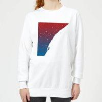 Starry Climb Women's Sweatshirt - White - XXL - White - White Gifts