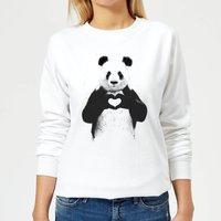 Panda Love Women's Sweatshirt - White - XXL - White - White Gifts
