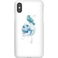 Balazs Solti Skull And Crow Phone Case for iPhone and Android - Samsung S10E - Snap Case - Matte