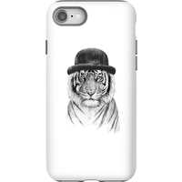 Balazs Solti Tiger In A Hat Phone Case for iPhone and Android - iPhone 8 - Tough Case - Gloss