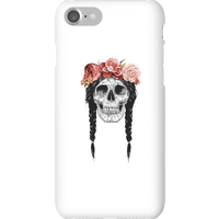 Balazs Solti Skull And Flowers Phone Case for iPhone and Android - iPhone 7 - Snap Case - Matte