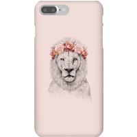 Balazs Solti Lion And Flowers Phone Case for iPhone and Android - iPhone 7 Plus - Snap Case - Matte