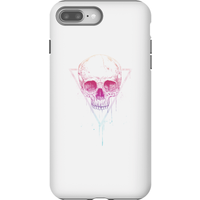 Balazs Solti Colourful Skull Phone Case for iPhone and Android - iPhone 8 Plus - Tough Case - Gloss - Colourful Gifts