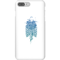 Balazs Solti Ribcage And Flowers Phone Case for iPhone and Android - iPhone 7 Plus - Snap Case - Glo