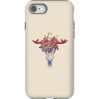 Balazs Solti Skulls And Flowers Phone Case for iPhone and Android - iPhone 8 - Tough Case - Matte