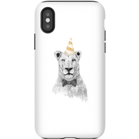 Balazs Solti Party Lion Phone Case for iPhone and Android - iPhone X - Tough Case - Gloss - Party Gifts