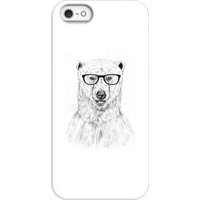 Balazs Solti Polar Bear And Glasses Phone Case for iPhone and Android - iPhone 5/5s - Snap Case - Gl