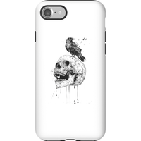 Balazs Solti Skull And Crow Phone Case for iPhone and Android - iPhone 7 - Tough Case - Gloss