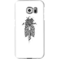 Balazs Solti Skulls And Flowers Phone Case for iPhone and Android - Samsung S6 Edge - Snap Case - Matte - Flowers Gifts