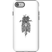 Balazs Solti Skulls And Flowers Phone Case for iPhone and Android - iPhone 7 - Tough Case - Matte - Flowers Gifts