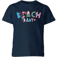 My Little Rascal Beach Baby Kids' T-Shirt - Navy - 11-12 Years - Navy - Beach Gifts