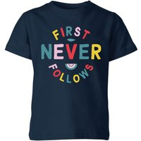 My Little Rascal First Never Follows Kids' T-Shirt - Navy - 11-12 Years - Navy - Clothing Gifts