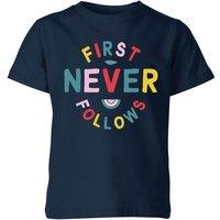 My Little Rascal First Never Follows Kids' T-Shirt - Navy - 11-12 Years - Navy - Navy Gifts