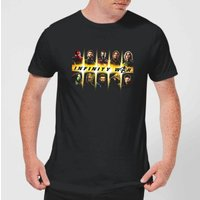 Avengers Team Lineup Men's T-Shirt - Black - S - Black