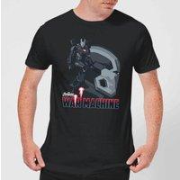 Avengers War Machine Mens T-Shirt - Black - S - Black