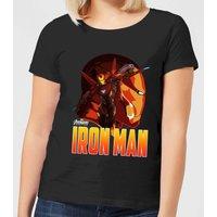 Avengers Iron Man Womens T-Shirt - Black - 5XL