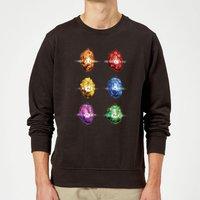 Avengers Infinity Stones Sweatshirt - Black - XXL - Black