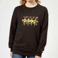Avengers Team Lineup Women's Sweatshirt - Black - XS - Black