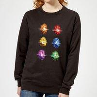Avengers Infinity Stones Women's Sweatshirt - Black - XXL - Black