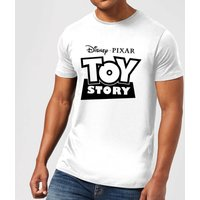 Toy Story Logo Outline Mens T-Shirt - White - XXL - White