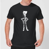 Toy Story Sheriff Woody Men's T-Shirt - Black - 5XL - Black