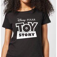 Toy Story Logo Outline Women's T-Shirt - Black - S - Black