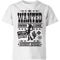 Toy Story Wanted Poster Kids' T-Shirt - White - 7-8 Years - White