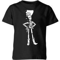 Toy Story Sheriff Woody Kids' T-Shirt - Black - 9-10 Years - Black