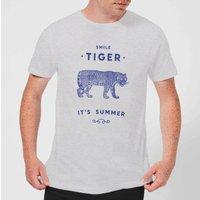 Florent Bodart Smile Tiger Men's T-Shirt - Grey - M - Grey
