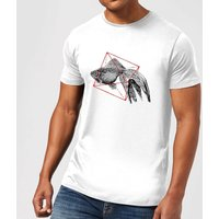 Florent Bodart Fish In Geometry Men's T-Shirt - White - XS - White
