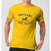 Florent Bodart Unicorns Are Real Men's T-Shirt - Yellow - XS - Yellow
