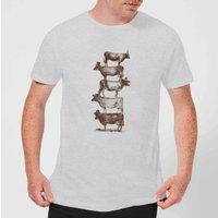 Florent Bodart Cow Cow Nuts Men's T-Shirt - Grey - XS - Grey