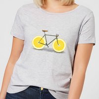Florent Bodart Citrus Lemon Women's T-Shirt - Grey - S - Grey