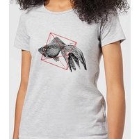 Florent Bodart Fish In Geometry Women's T-Shirt - Grey - 5XL - Grey