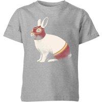 Florent Bodart Lapin Catcheur Kids' T-Shirt - Grey - 7-8 Years - Grey
