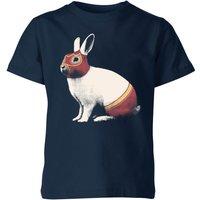 Florent Bodart Lapin Catcheur Kids' T-Shirt - Navy - 5-6 Years - Navy