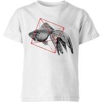 Florent Bodart Fish In Geometry Kids' T-Shirt - White - 7-8 Years - White