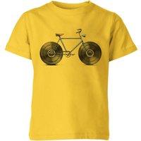 Florent Bodart Velophone Kids' T-Shirt - Yellow - 9-10 Years - Yellow